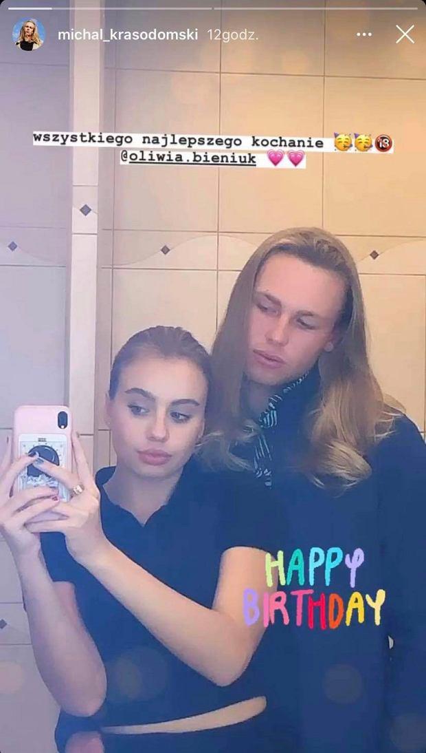 Oliwia Bieniuk z chłopakiem