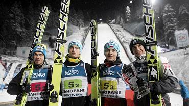 Kamil Stoch, Krzysztof Miętus, Piotr Żyła i Maciej Kot
