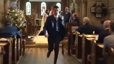 Pan młody ucieka z kościoła