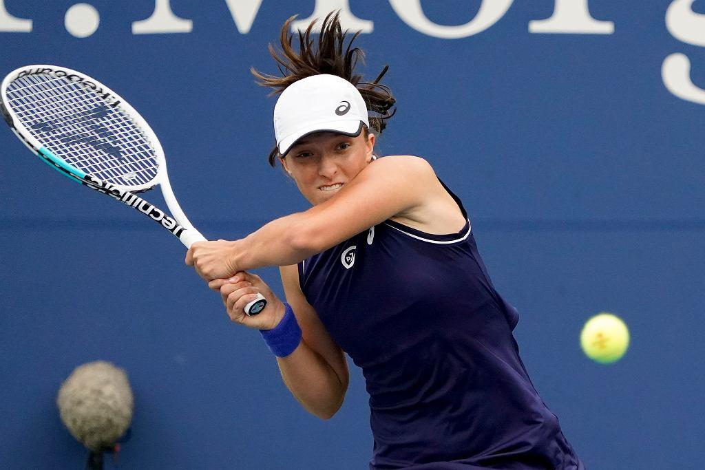 Iga Świątek podczas meczu I rundy US Open z Amerykanką Jamie Loeb