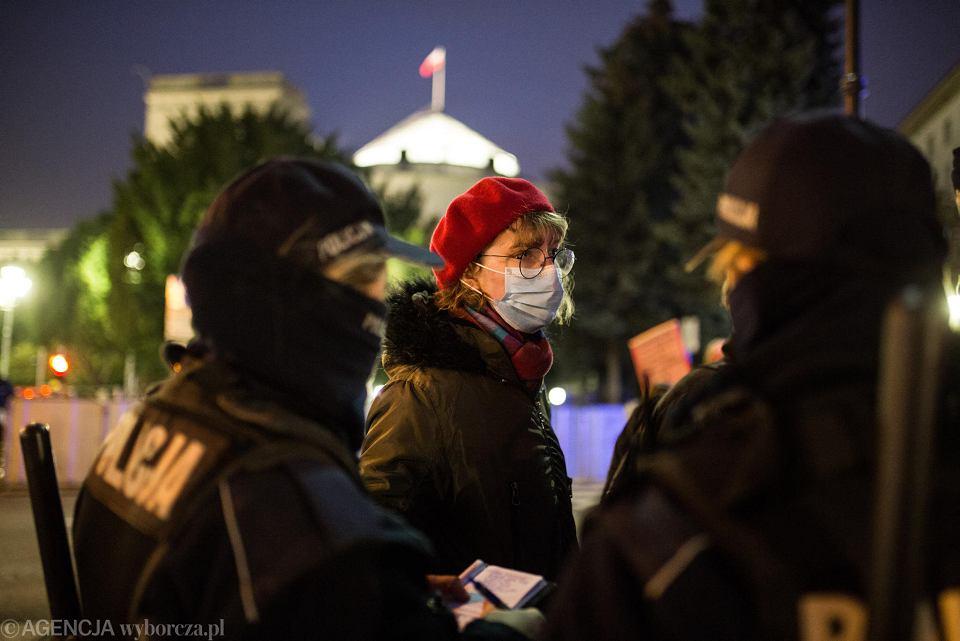 14 listopada 2020 r. Protest pod Sejmem i spacer w rytmie techno w obronie praw kobiet
