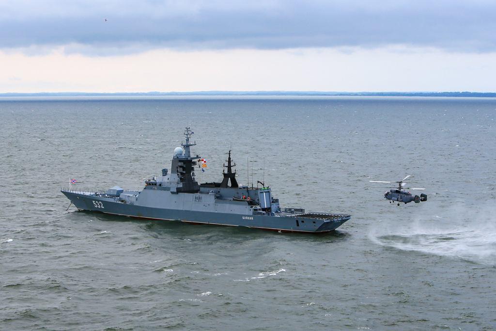Korweta typu Stierieguszczij Floty Bałtyckiej. Między innymi taki okręt miał wtargnąć na polskie wody terytorialne