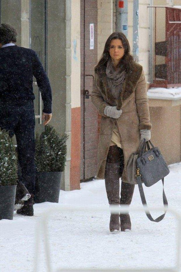 Kinga Rusin, Marek Kujawa, randka, obiad, zima, śnieg, spotkanie