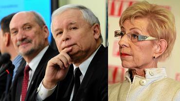 Antoni Macierewicz, Jarosław Kaczyński, Janina Paradowska