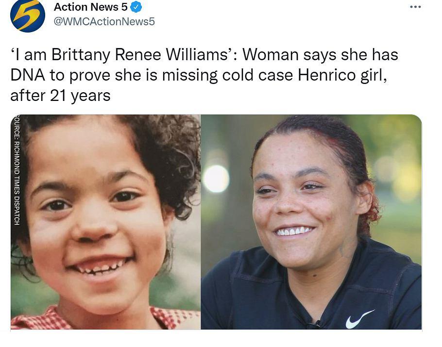 Uznała się za zaginioną dziewczynkę, więc zrobiła testy DNA. Była w szoku