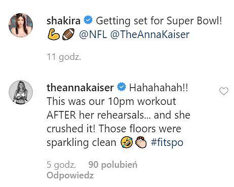 Shakira - trening na Super Bowl