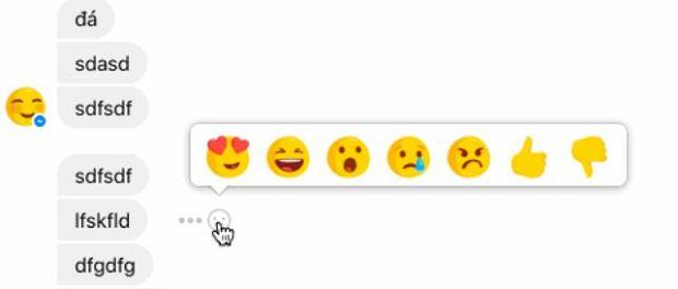 Reakcje w komunikatorze Facebook Messenger