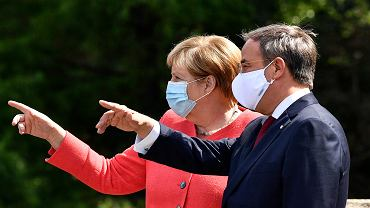 Angela Merkel i Armin Laschet, Duesseldorf, 18 sierpnia 2020 r.