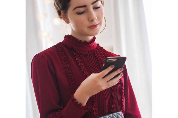 Bluzki damskie wizytowe czerwone