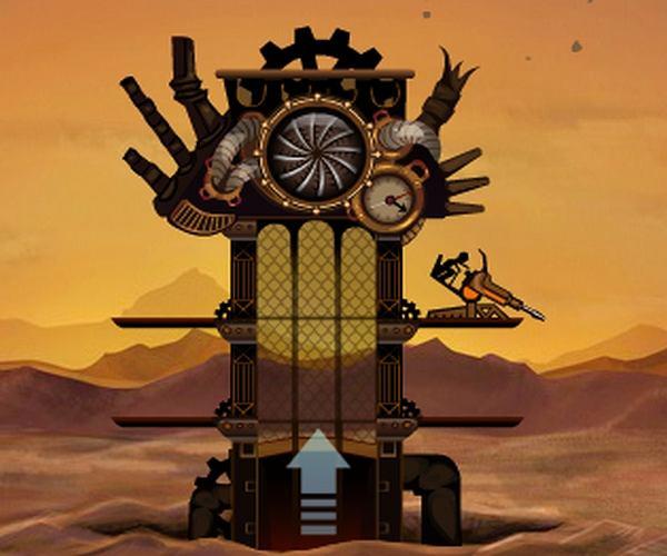 Wieża pełna steampunku