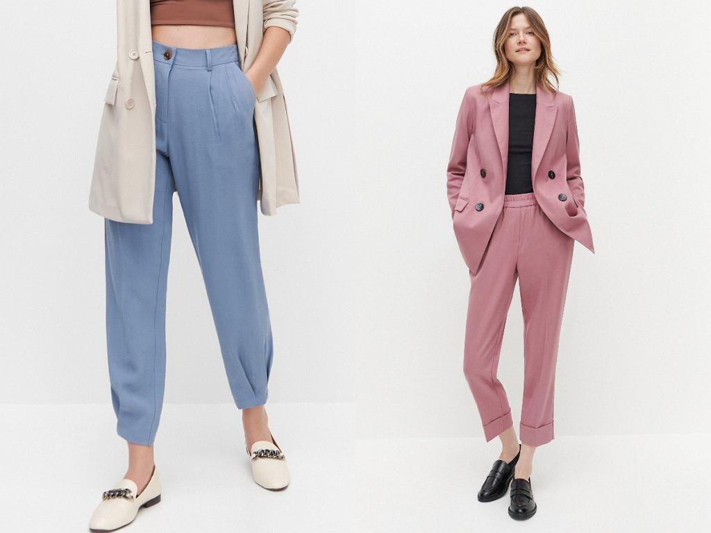 Pastelowe spodnie damskie