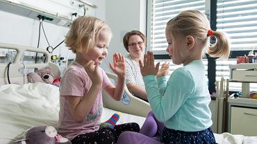 Sala dla dzieci w klinice Przylądek Nadziei we Wrocławiu