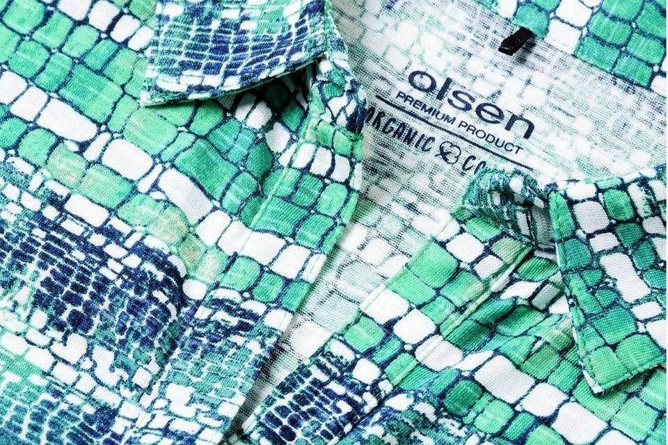 Ubrania wytworzone z organicznych tkanin są w Olsen specjalnie oznakowane