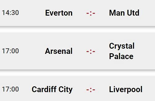 Niedzielne mecze Premier League