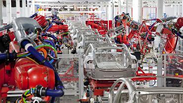 Fabryka Tesli we Fremont w stanie Kalifornia