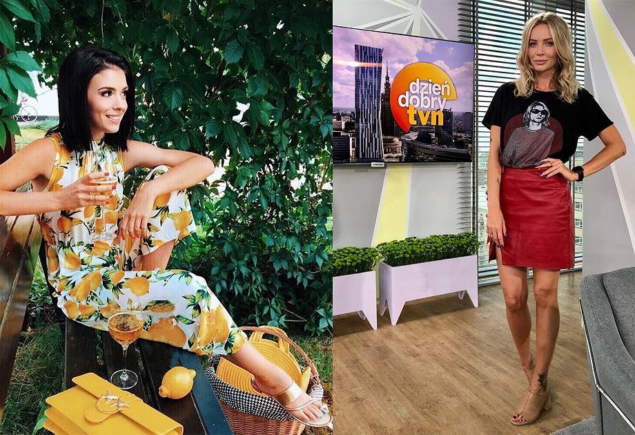 Klaudia Halejcio i Agnieszka Woźniak-Starak w butach Primamoda