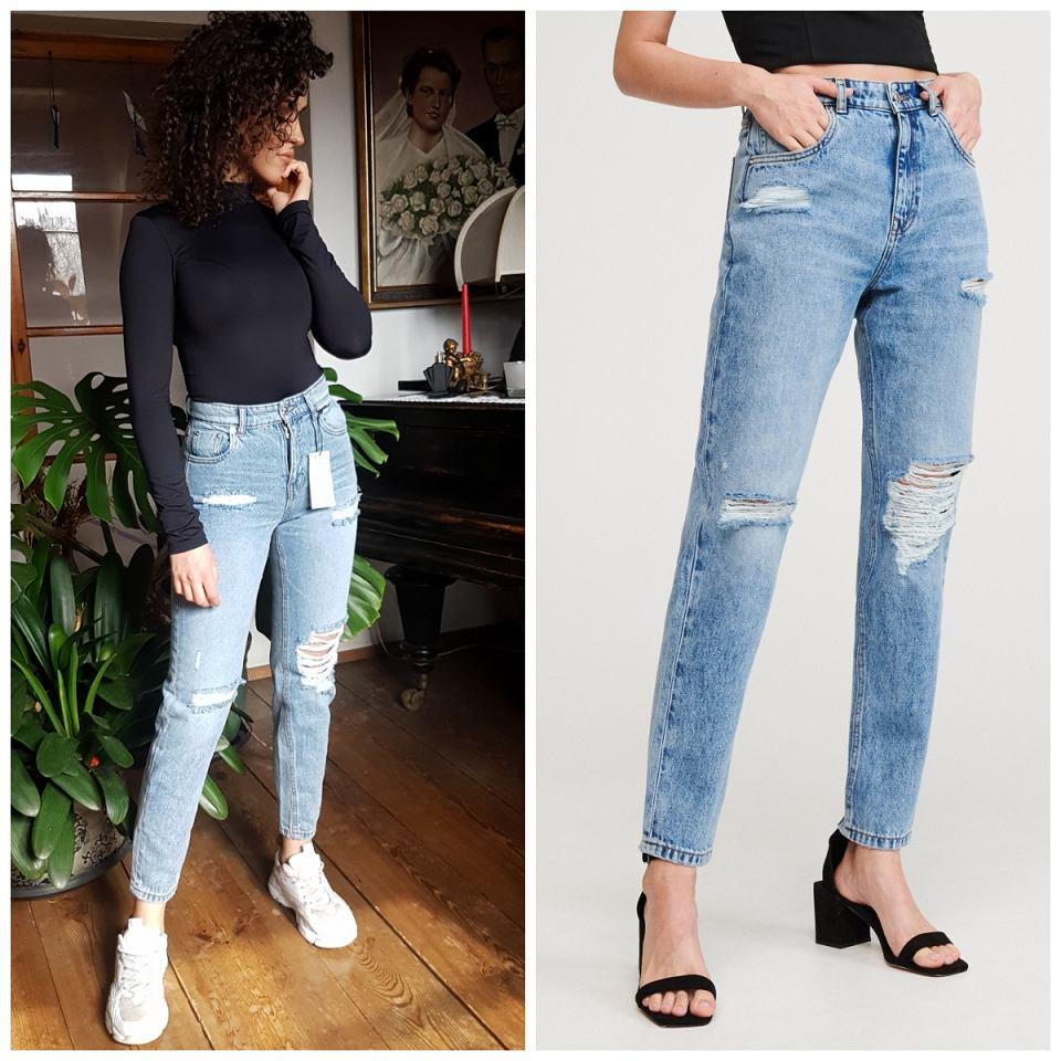 Niebieskie jeansy 'mom jeans' z Reserved