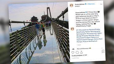 W Chinach otwarto najdłuższy na świecie szklany most.