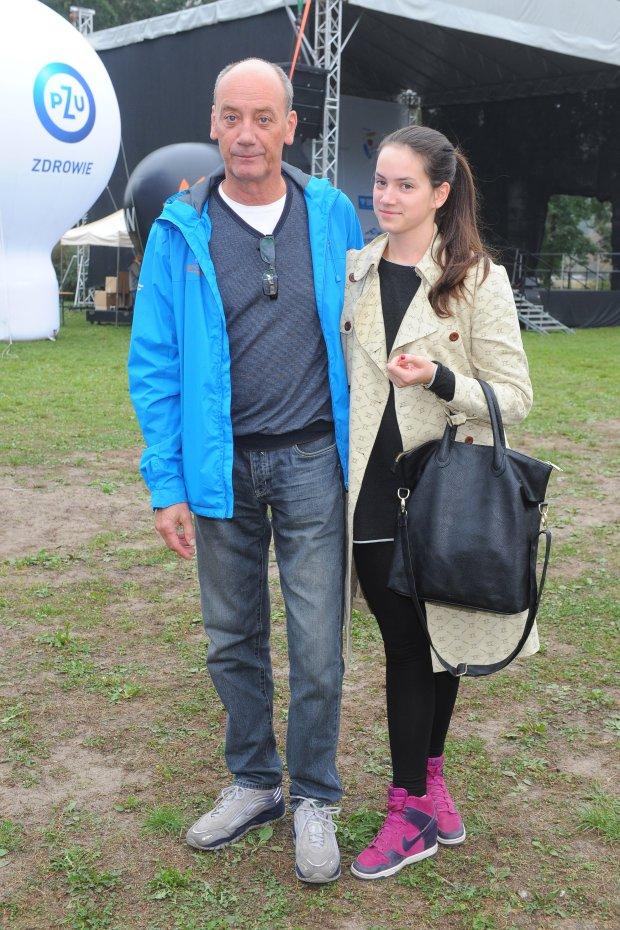 Dariusz Szpakowski z córką