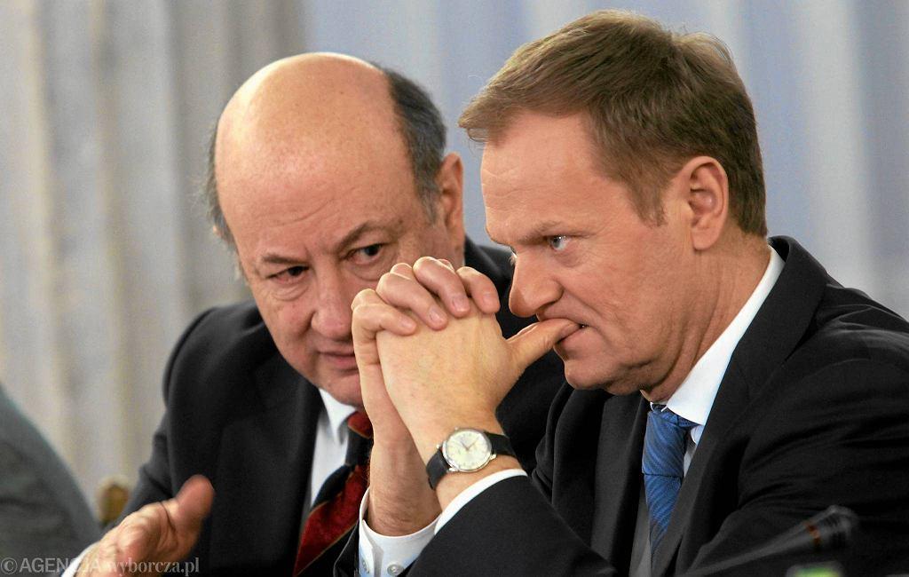 Jacek Rostowski i Donald Tusk. Zdjęcie z lutego 2012 r.