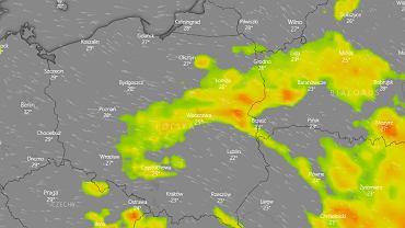 Mapa burzowa dla Polski na środę 5 czerwca.