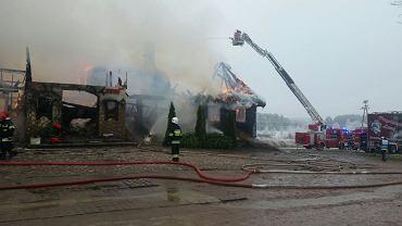 Pożar restauracji Przystanek Łosoś w Egiertowie (powiat kartuski)