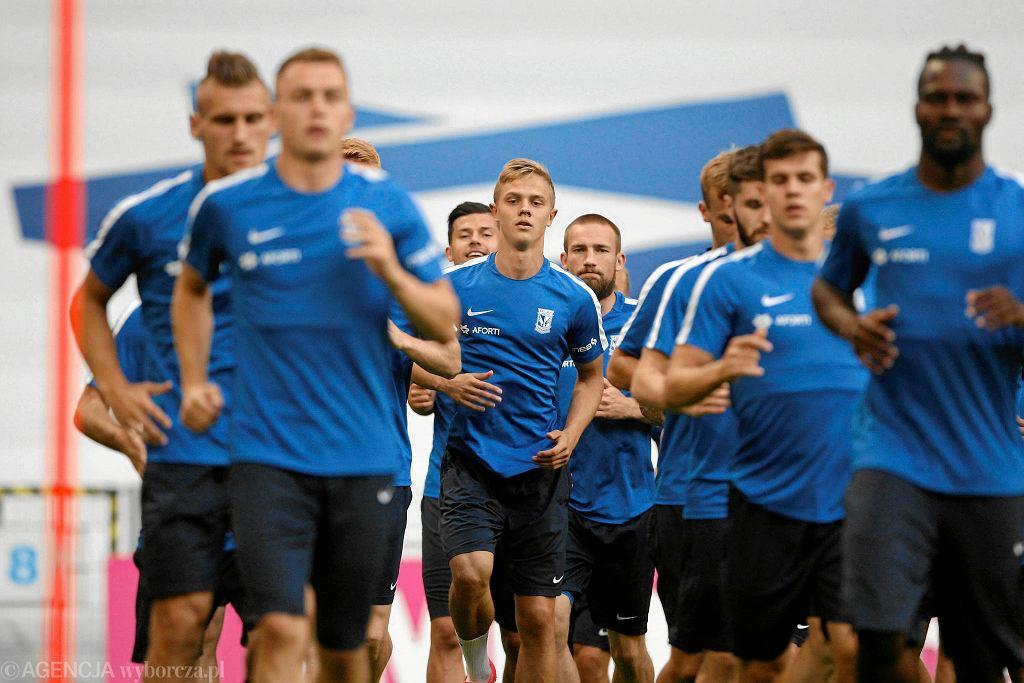 Lech Poznań podczas treningu