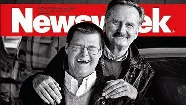 Gromosław Czempiński z synem Piotrem na okładce Newsweeka