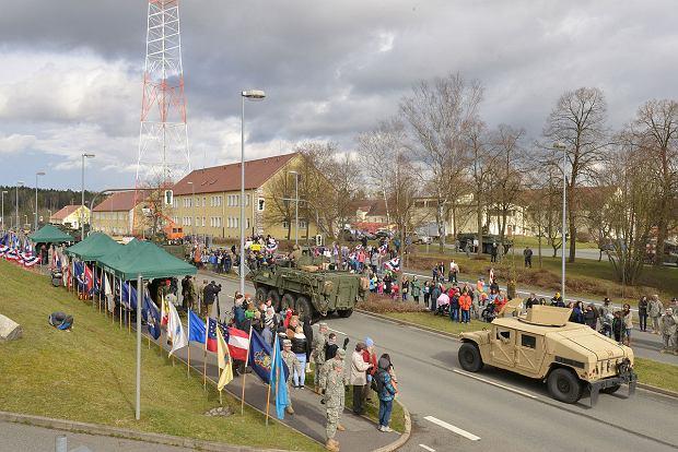 Żołnierze US Army w jednej z największych baz USA w Niemczech - Rose Barracks