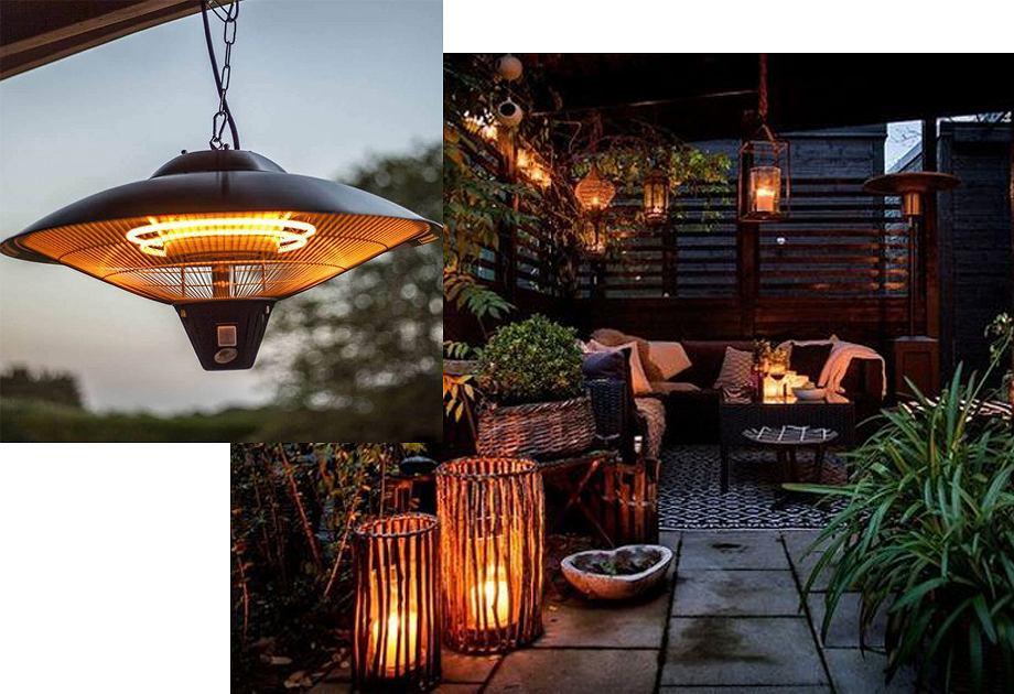 Balkon - lampy grzewcze