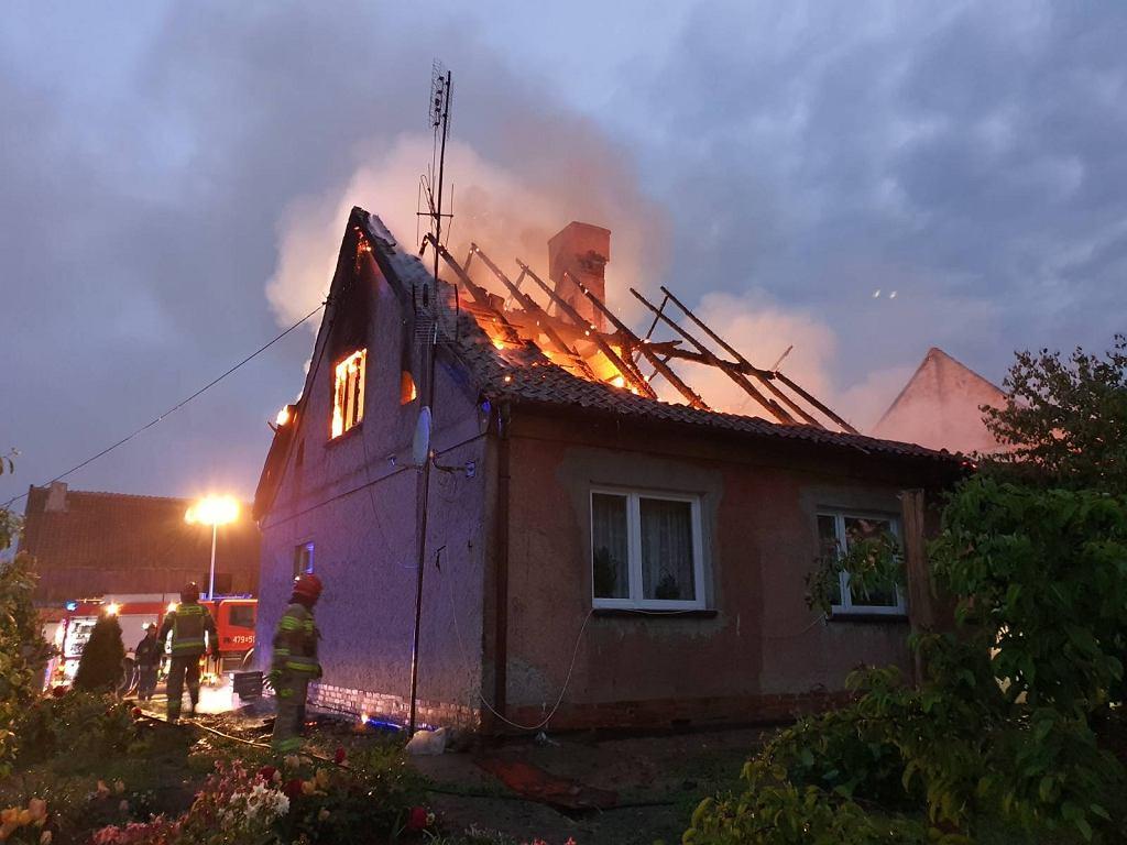Pożar w miejscowości Silginy