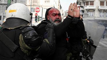 4.02.2018, Ateny, wielotysięczna demonstracja przeciwko zmianie nazwy dawnej jugosłowiańskiej republiki Macedonii.