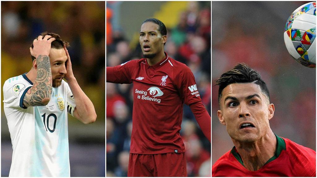 Lionel Messi, Virgil van Dijk i Cristiano Ronaldo