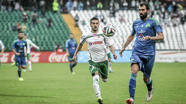 Lechia - Panathinaikos 4:0. Z lewej Maciej Makuszewski