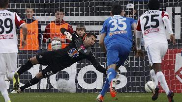 Gornik Zabrze - Lech Poznan 0:3. Krzysztof Kotorowski