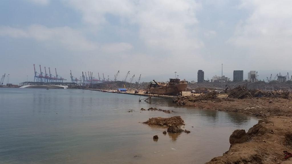 Epicentrum wybuchu w Bejrucie
