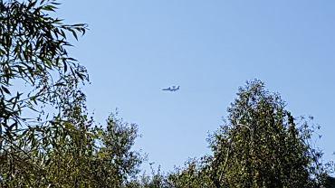 Samolot AWACS  nad Warszawą w sobotę 22 sierpnia 2020 roku