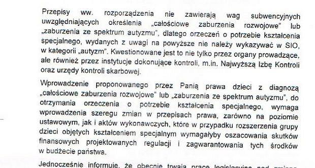 Fragment pisma z MEN