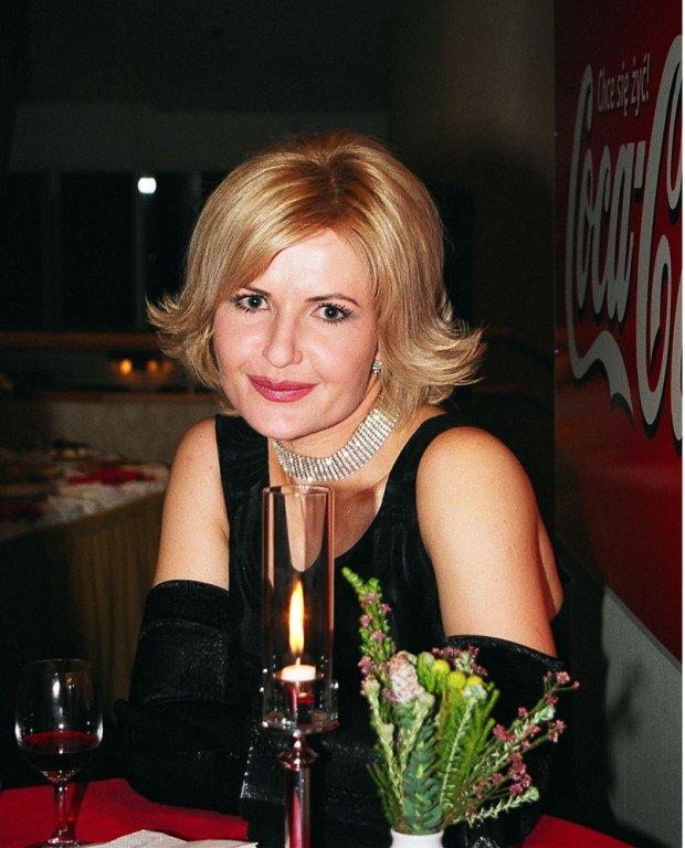 Joanna Racewicz w 2002 roku na Balu Dziennikarzy.