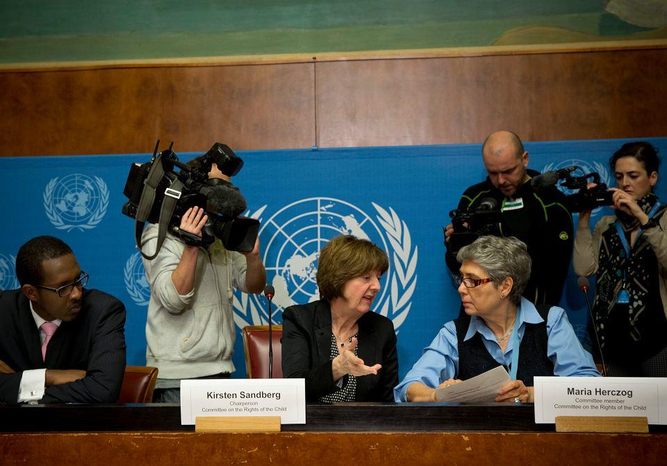 Konferencja prasowa ONZ-owskiego komitetu zajmującego się prawami dziecka, dotycząca pedofilii w Kościele