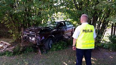 Wypadek w miejscowości Kamionka- Policja KMP Wieluń