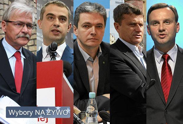 Szefowie sztabów: Tadeusz Zwiefka, Krzysztof Gawkowski, Adam Jarubas, Janusz Palikot, Andrzej Duda