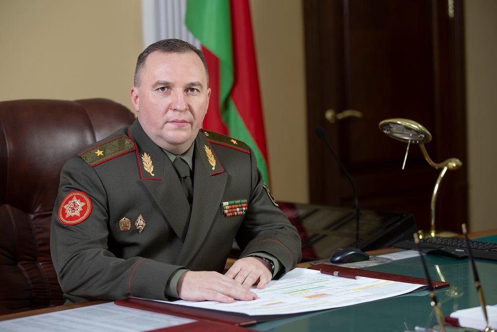 Minister obrony Białorusi Wiktar Hienadzjewicz Chrenin