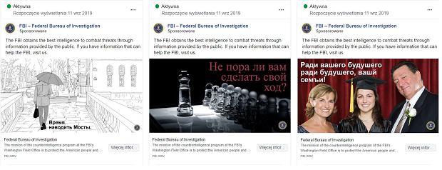 Reklamy FBI na Facebooku