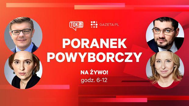 Poranek Powyborczy radia TOK FM i Gazeta.pl