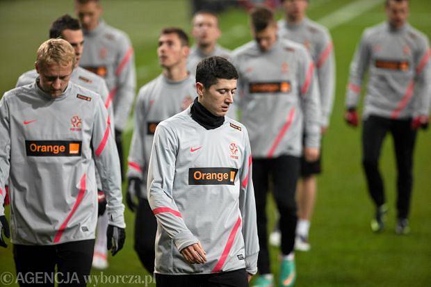 Reprezentacja Polski podczas treningu