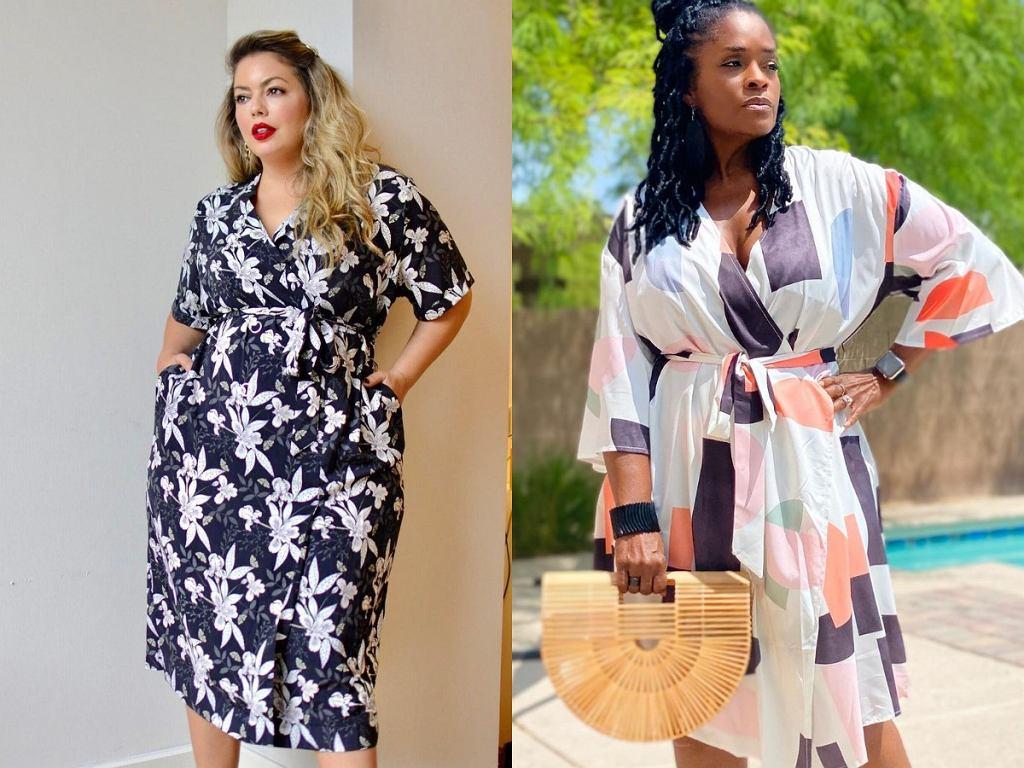 Sukienki kopertowe plus size