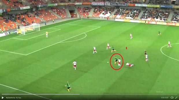 Niesamowity gol w I Lidze! Obrońca przebiegł całe boisko. I ten strzał! [WIDEO]