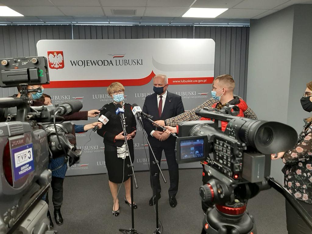 Marszałek Elżbieta Polak i Władysław Dajczak, wojewoda lubuski.