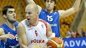 Maciej Lampe w meczu z Czechami